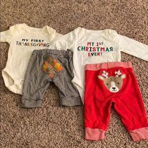 First thanksgiving and Christmas outfits
